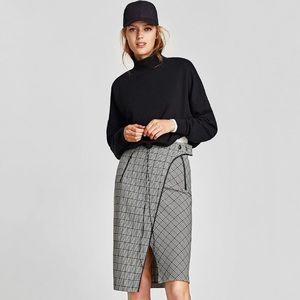 NWT Zara Checked Skirt